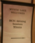 Mystic Lake Advising Session Sign