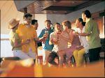 Group enjoying drinks at the Bier Garten